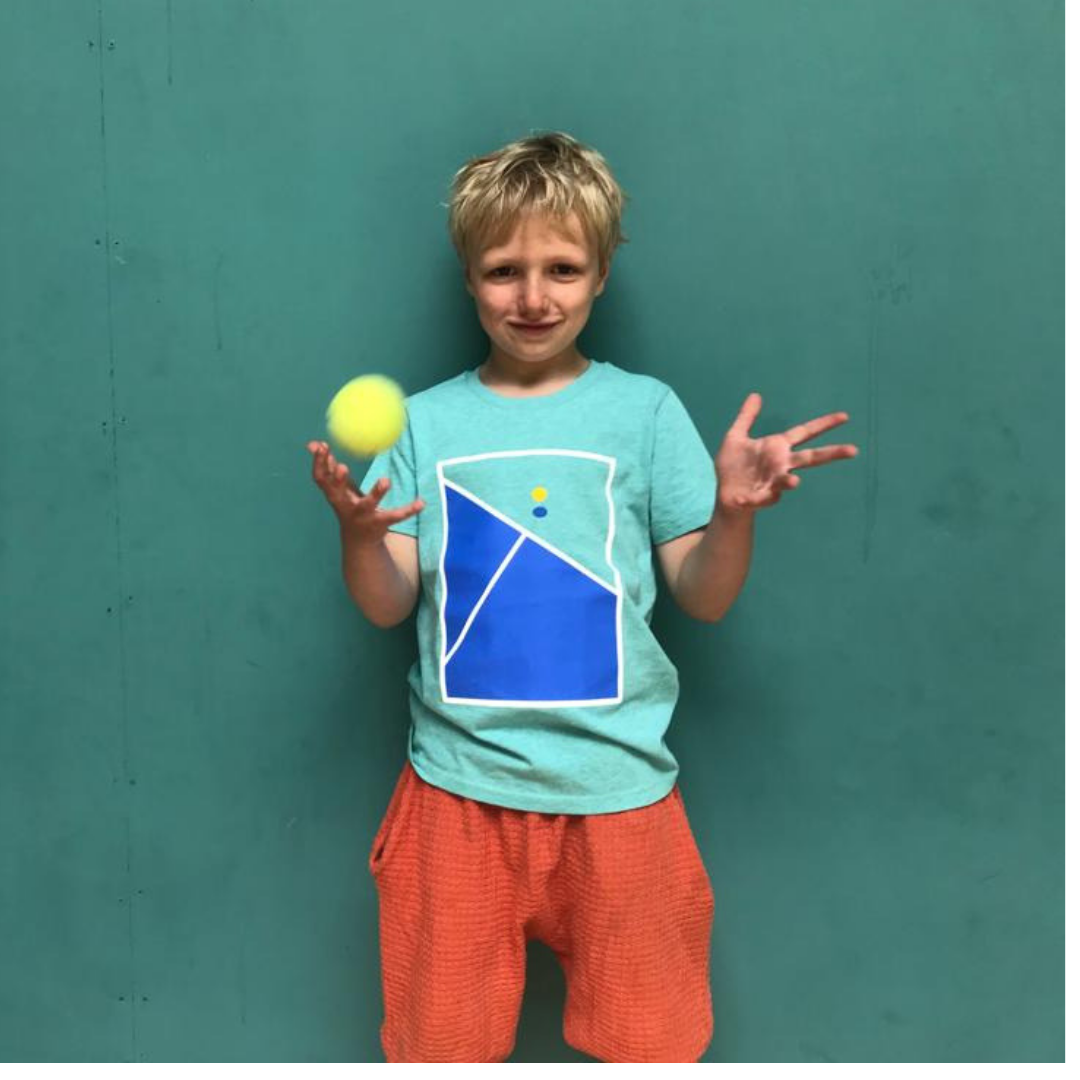 Tennis print t-shirt for boys aged 7