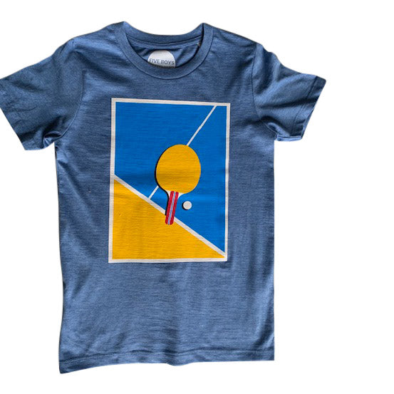 Table tennis print tee for children