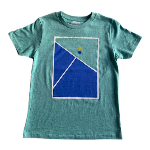 Tennis print t-shirt for children - organic cotton