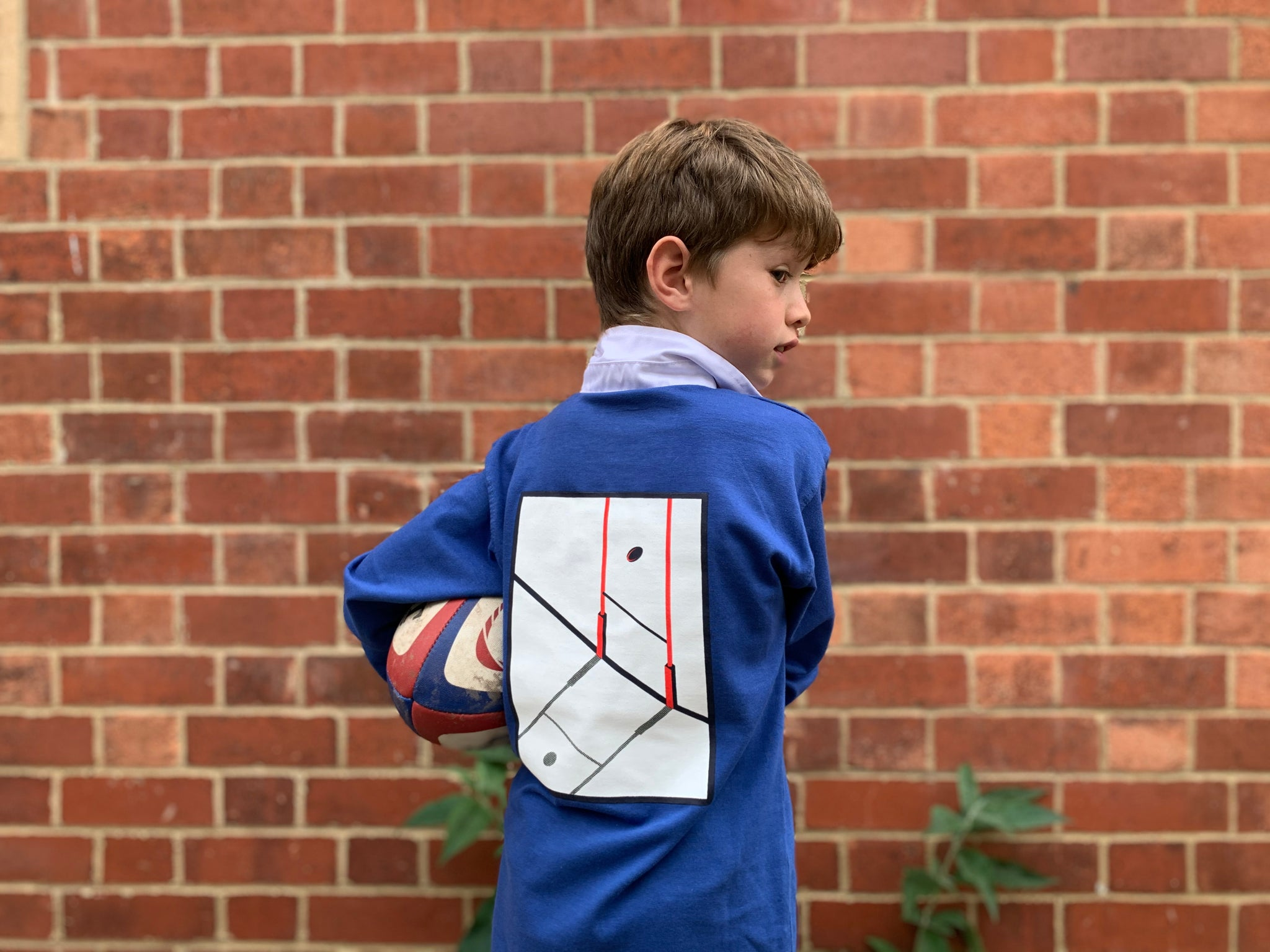 Rugby Shirt For Boys Royal Blue