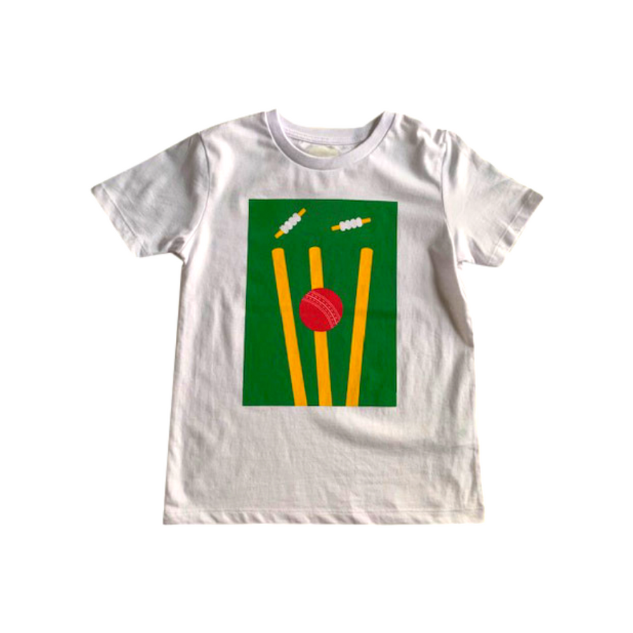 Cricket Print Organic T-shirt for Boys