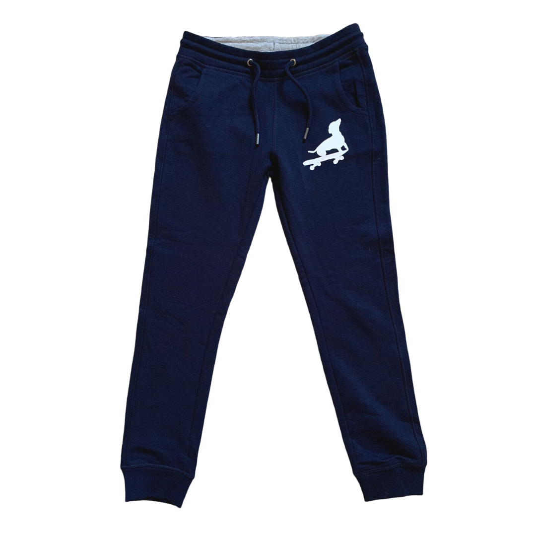 navy blue jogging bottoms for boys organic
