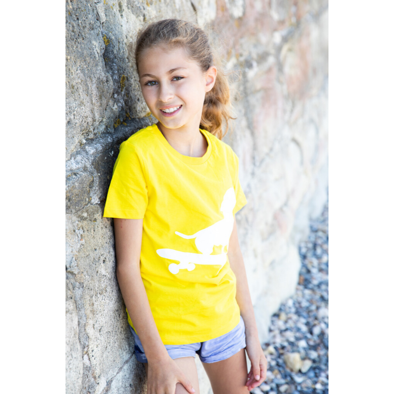 yellow dog t-shirt for kids
