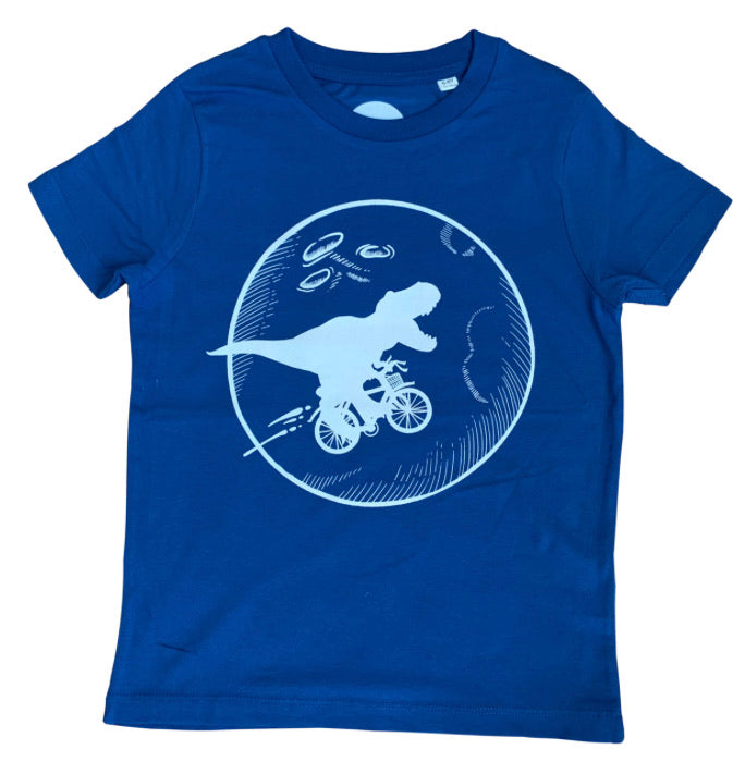 Dinosaur on a Bike T-shirt For Kids