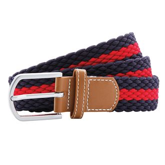 Navy Blue Stripe Woven Stretch Belt for Bigger Kids and Teens