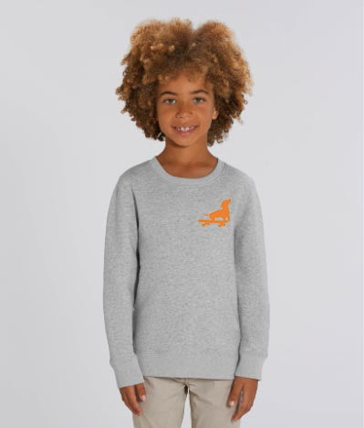 Neon Dachshund on Grey Marl Sweatshirt