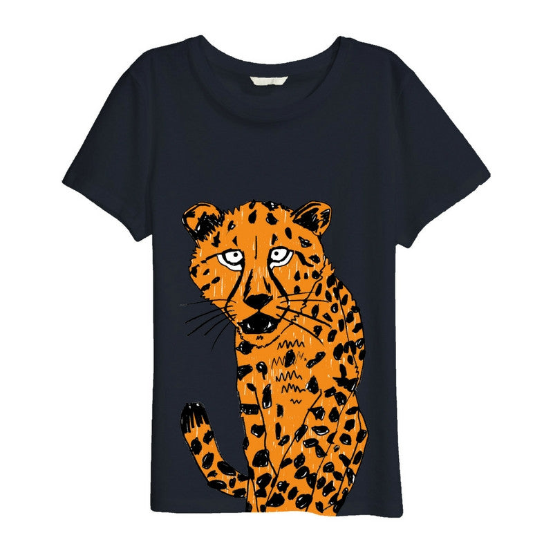Cheetah t-shirt for kids - organic cotton