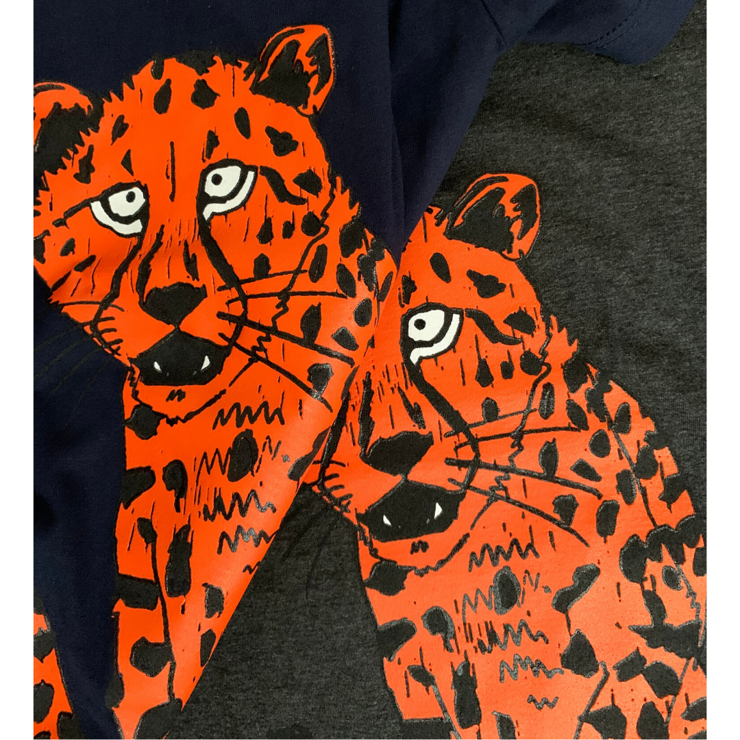 Organic Cheetah T-shirt // Dusky Grey