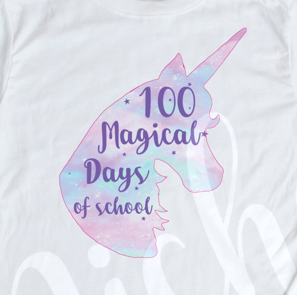 *100 Days Unicorn Decal