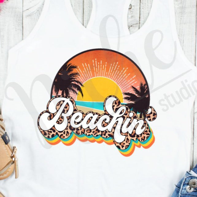 * Beachin Retro Decal
