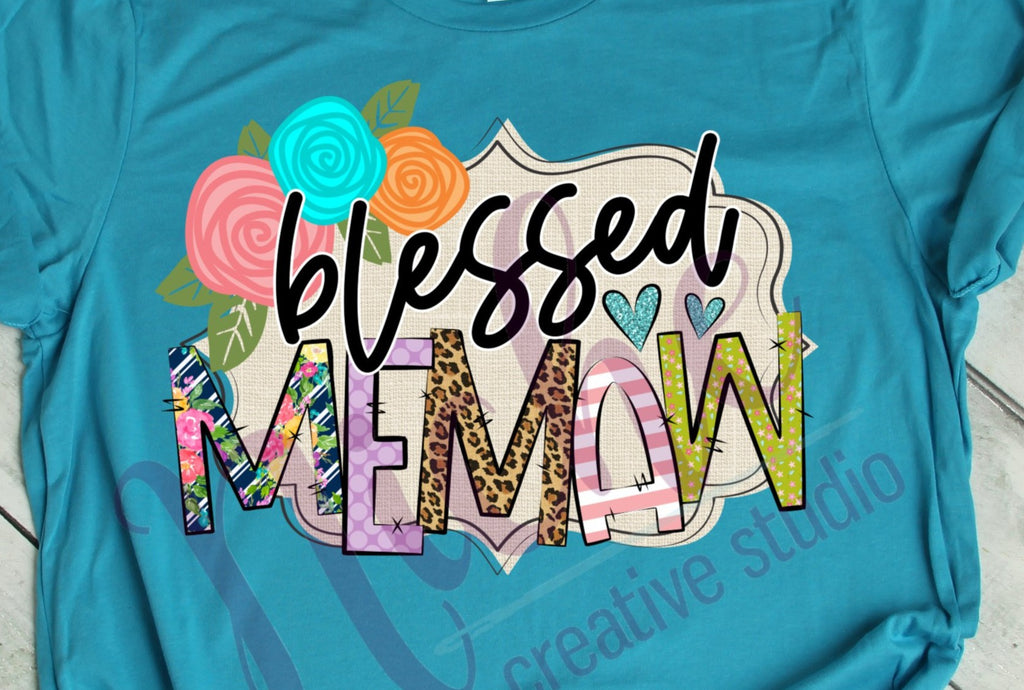* Blessed MEMAW floral
