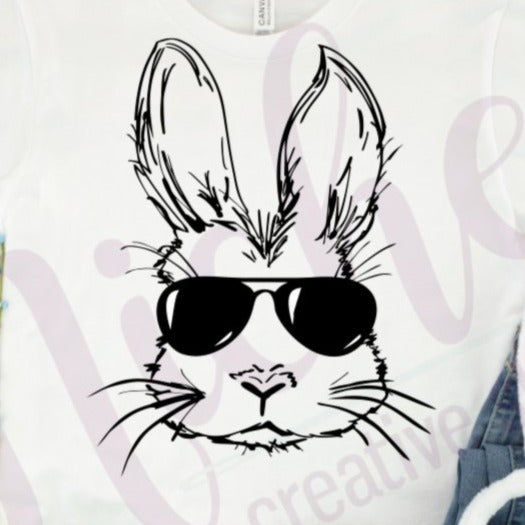 * Bunny Sunglasses Screen Decal