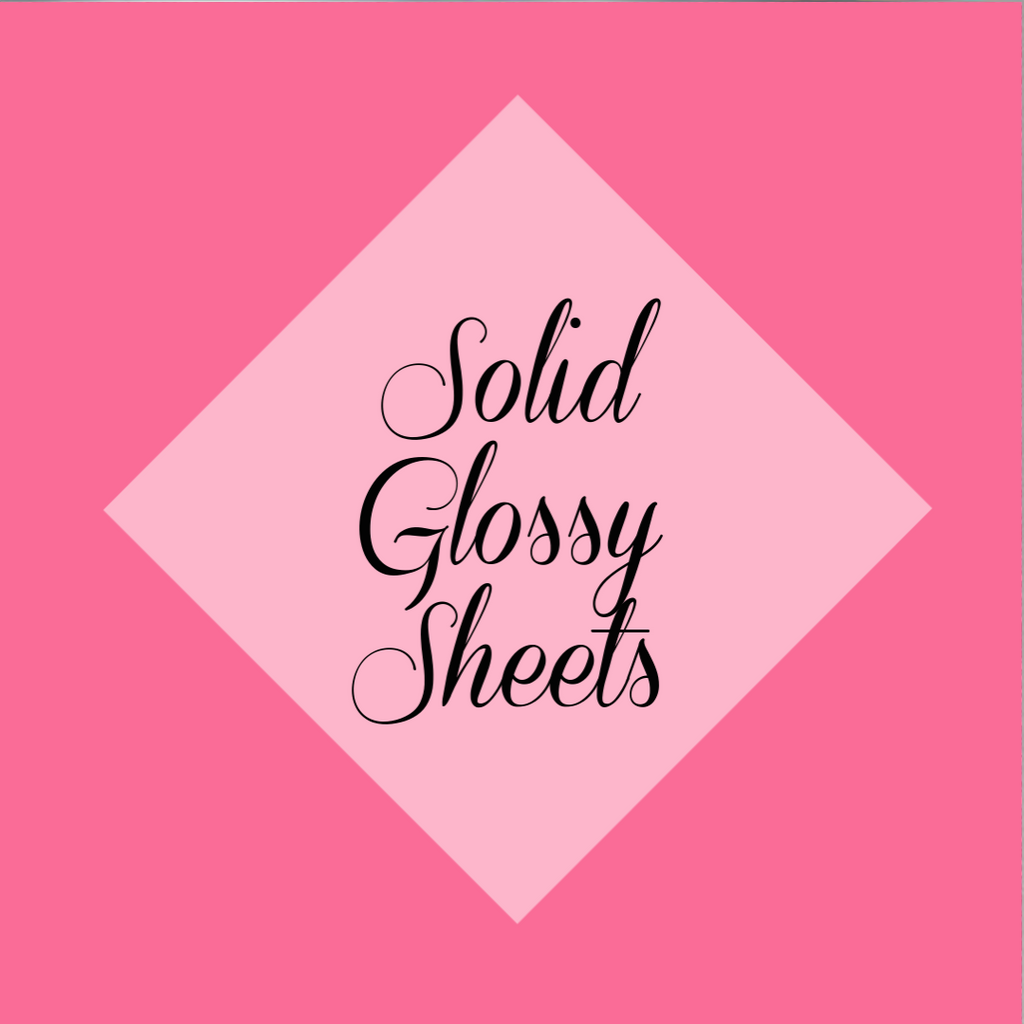 "Solid Glossy 12 x 15"" Sheets (Siser Easyweed)"