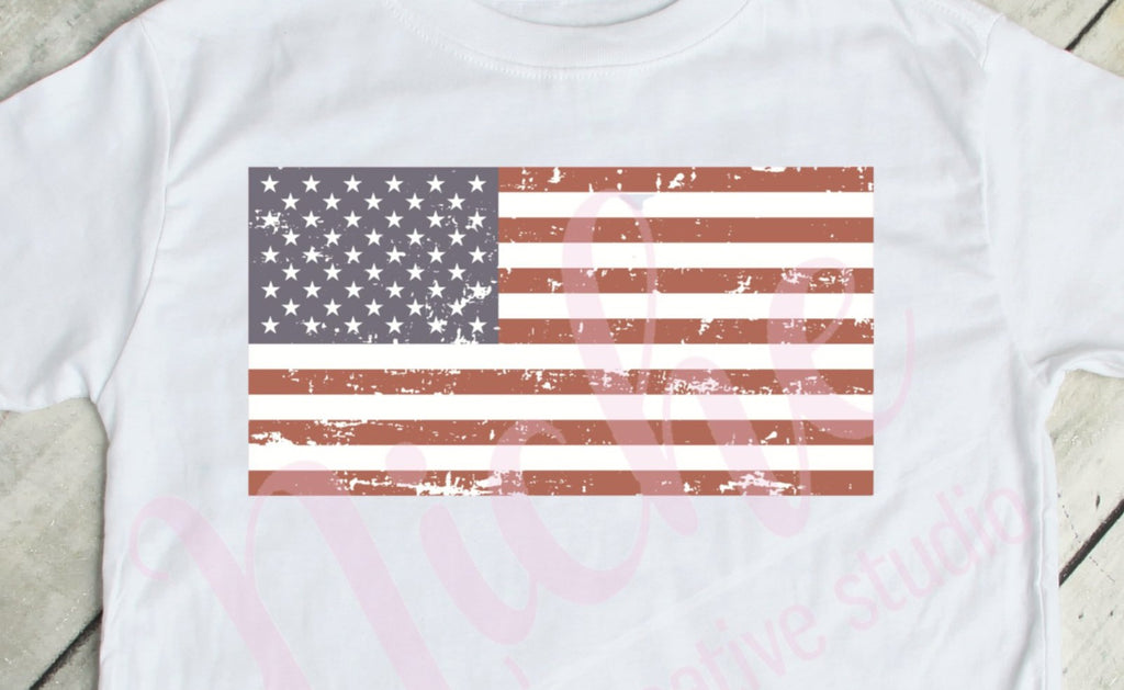 * Distressed Flag Decal