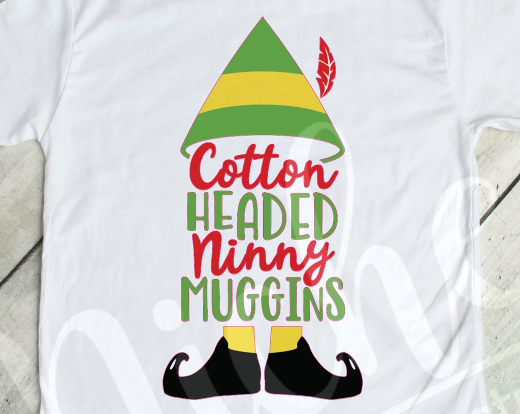 *$Elf Cotton Headed Ninny Muggins Decal