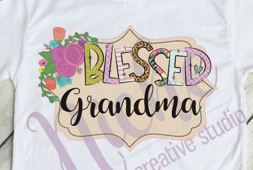 * Framed Blessed Grandma Decal