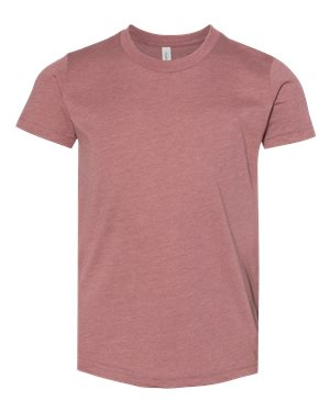 Bella Youth T-shirt - HEATHER MAUVE