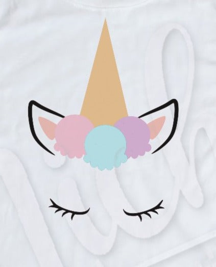 * Ice Cream Unicorn Decal