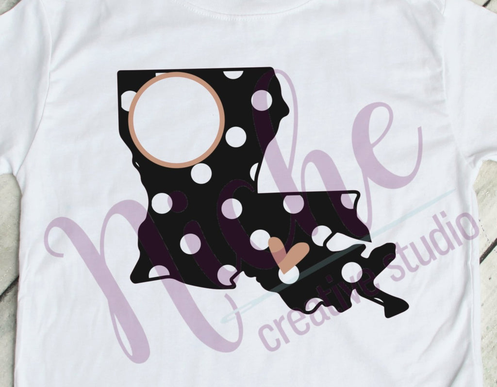 * LA Dots Monogram 3 Decal