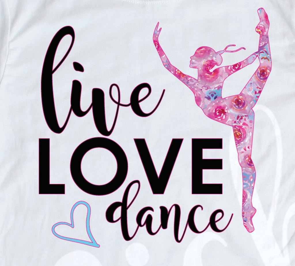 *Live Love Dance Blue Decal