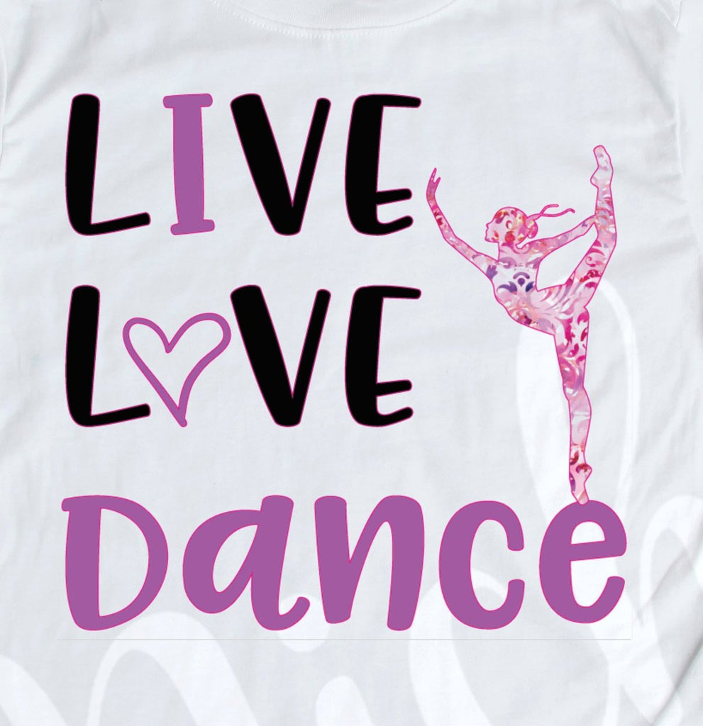 *Live Love Dance Purple Decal