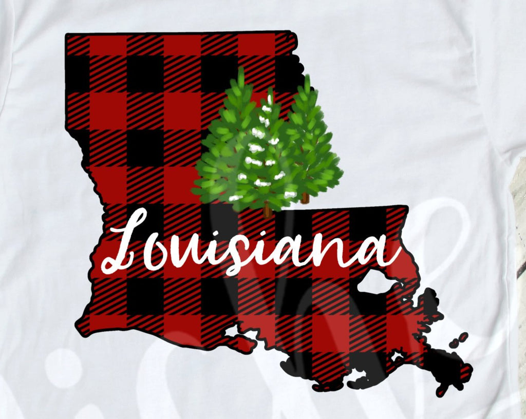 *$Louisiana Buffalo Plaid Decal