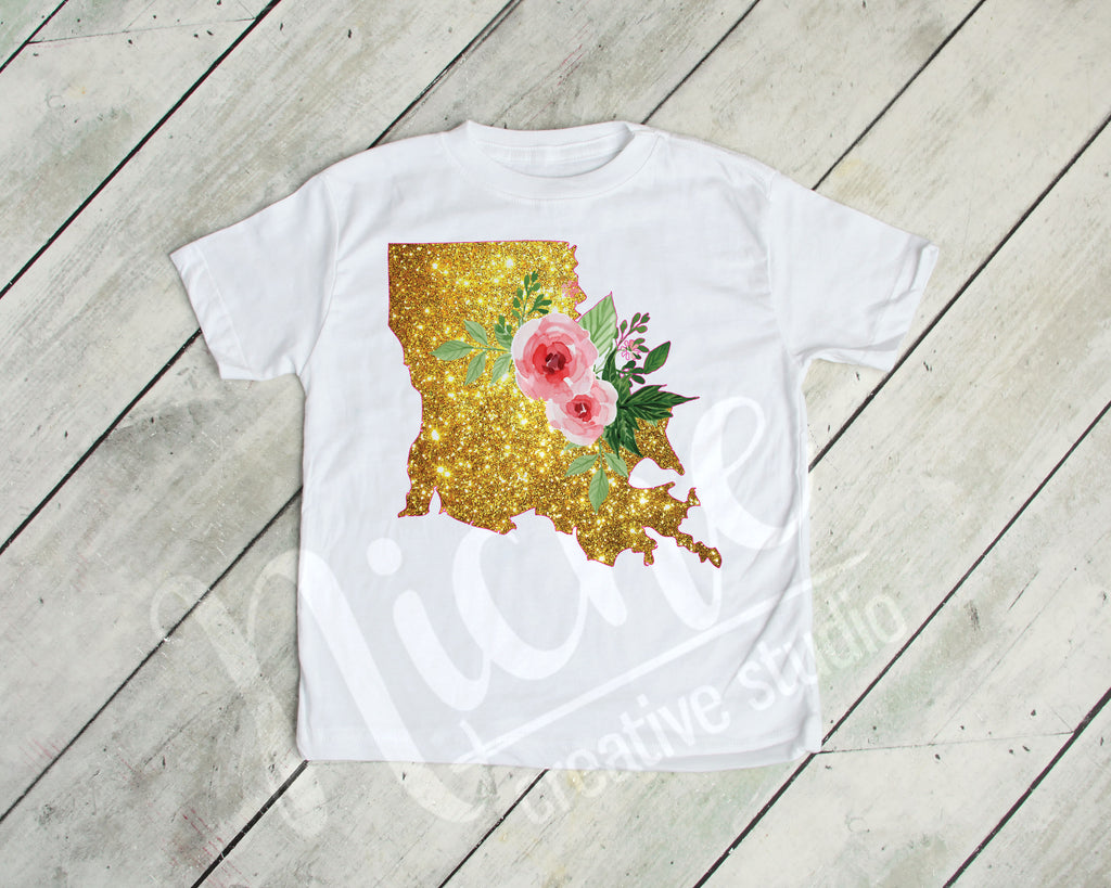 *Louisiana Glitter Decal