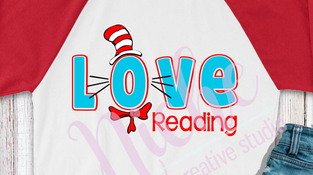 * Love Reading Seuss Decal