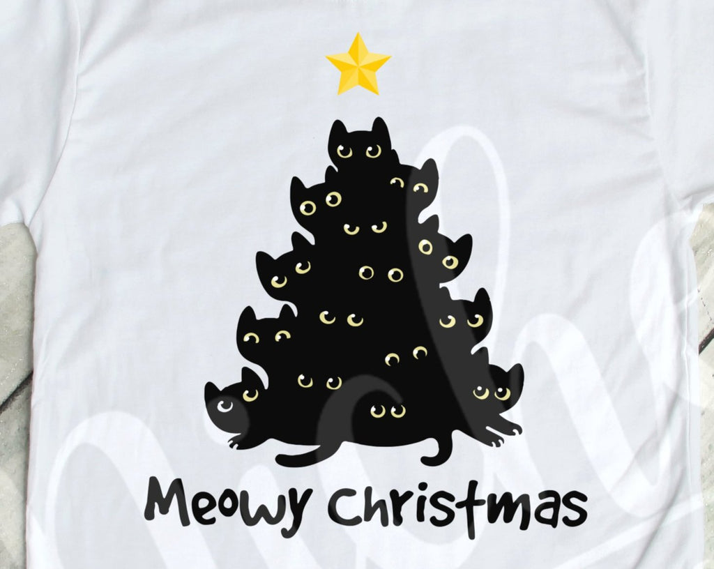 *$Meowy Christmas Decal