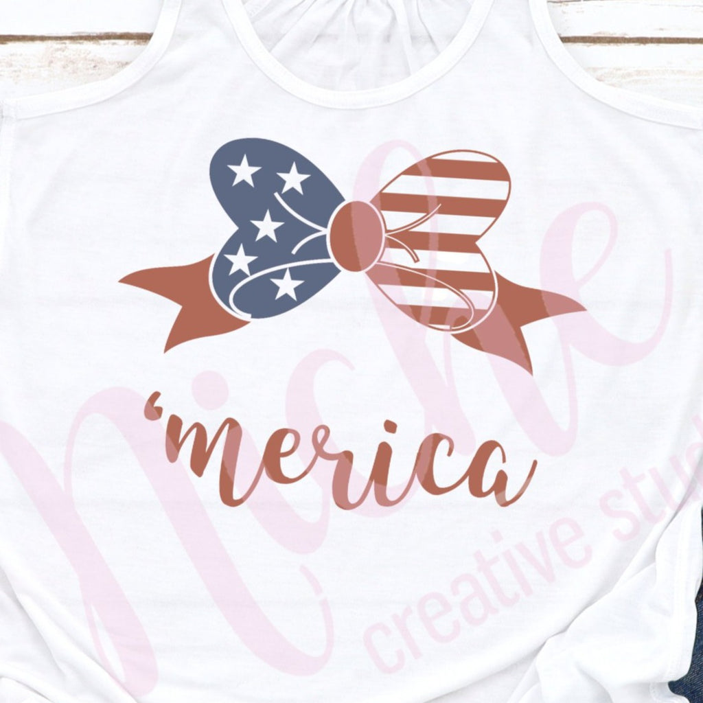 * Merica Bow Decal