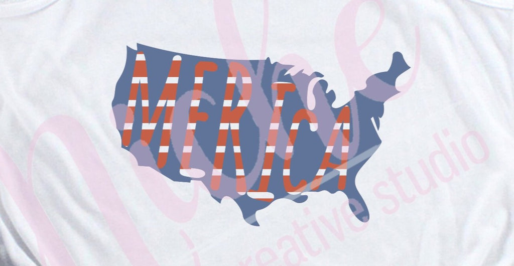 * Merica Map Decal