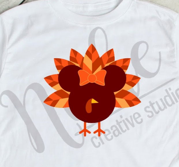 * Mickey Turkey Girl Decal