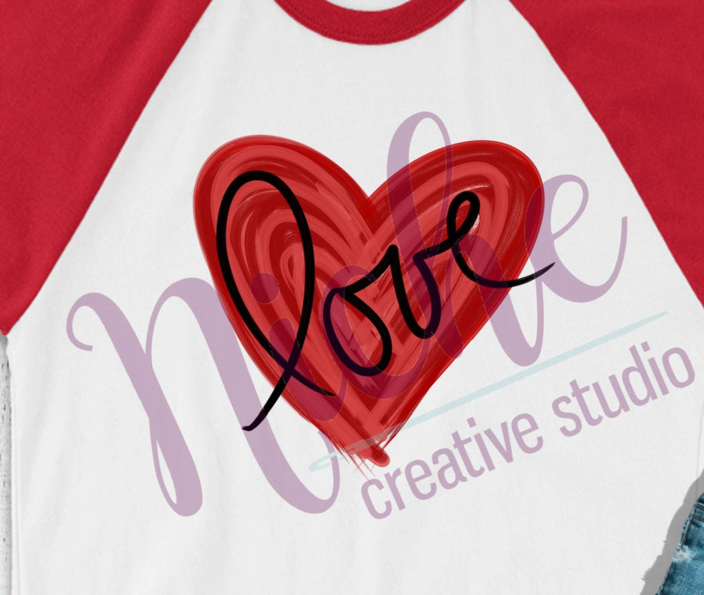 * Painted Heart Love Decal