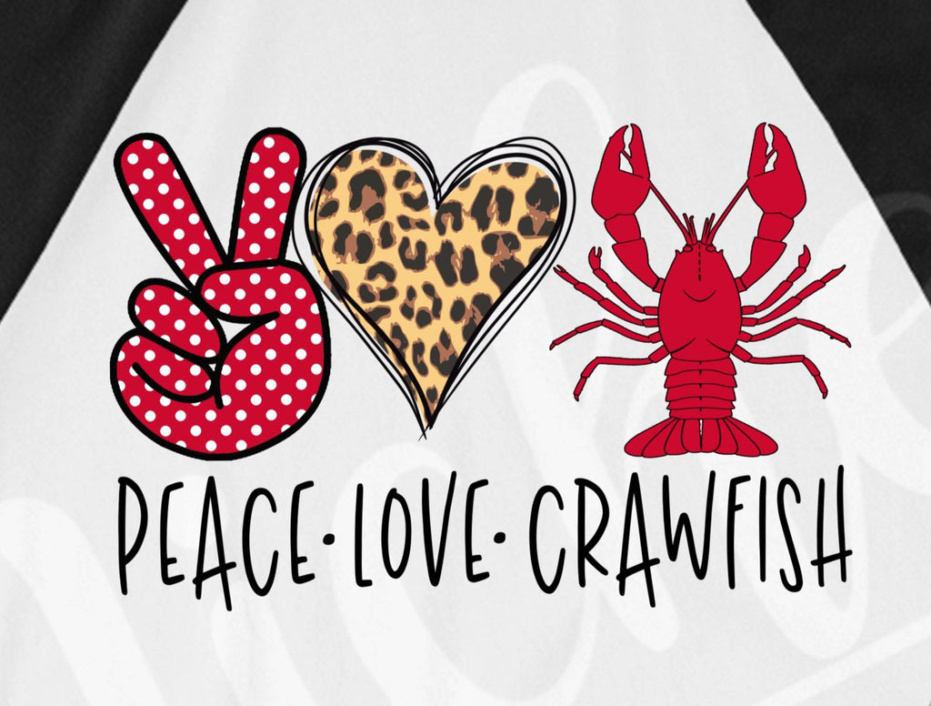 *Peace Love Crawfish Screen Decal