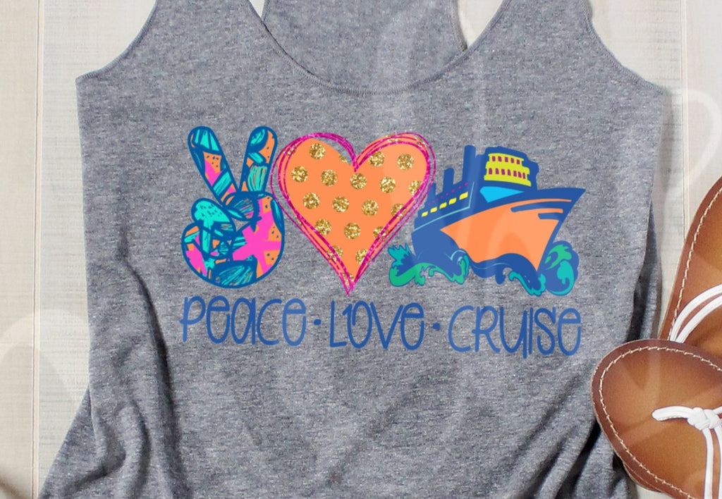 * Peace Love Cruise Screen Decal