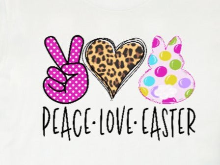 * Peace Love Easter Screen Decal