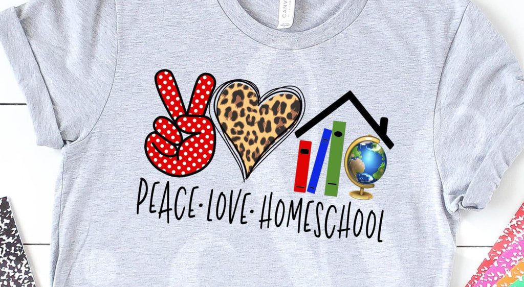 * Peace Love Homeschool Screen Decal