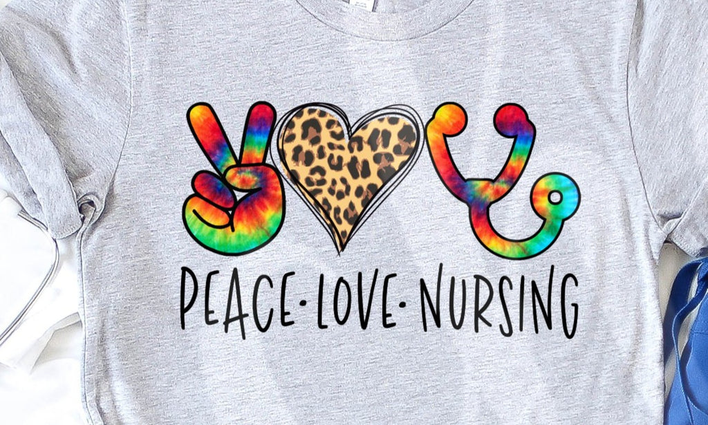 * Peace Love Nursing Screen Decal