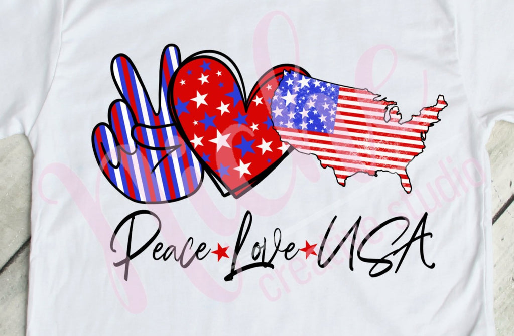 * Peace Love USA Screen Decal
