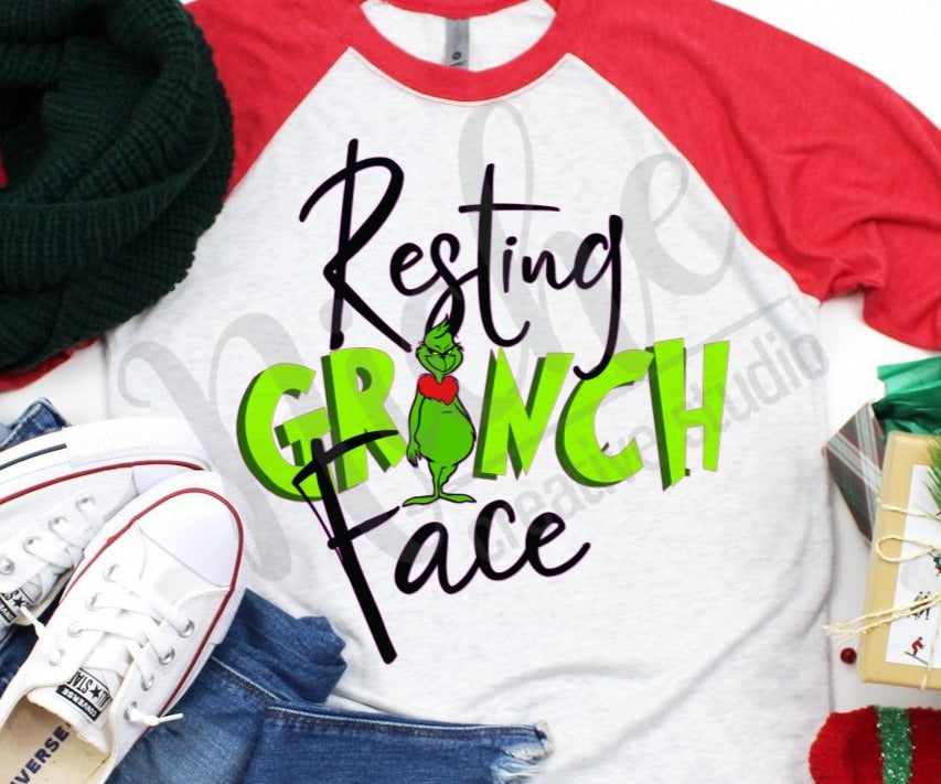 * Resting Grinch Face Decal