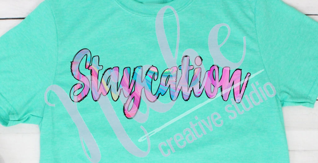 * Staycation Screen Decal