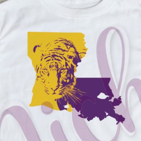 * Tiger Louisiana Decal