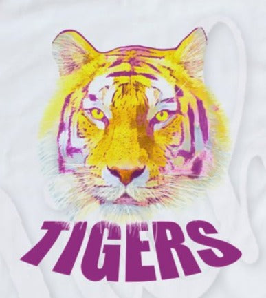 * Tiger Watercolor Decal