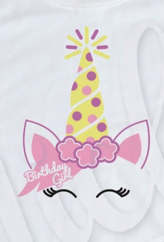 * Unicorn Birthday Decal