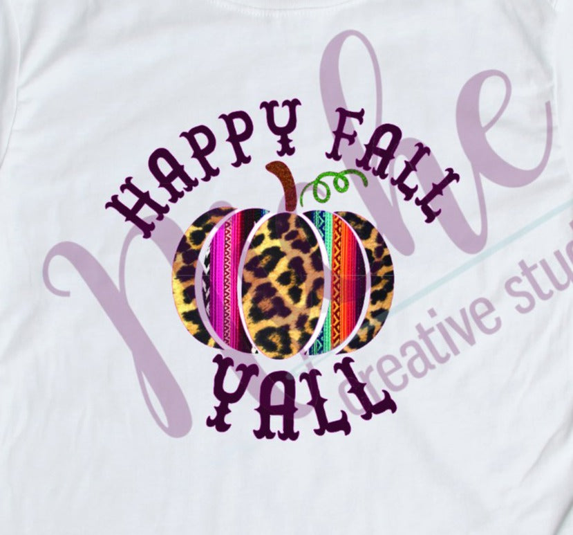 * Western Happy Fall Y'all Decal