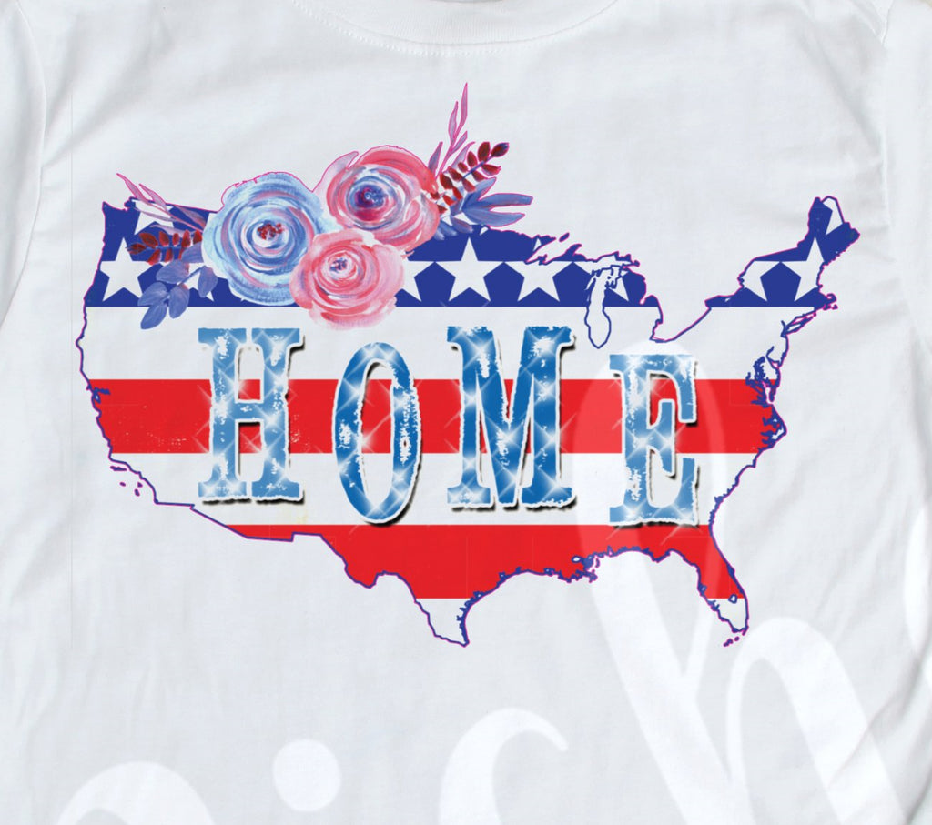 *America Floral Decal