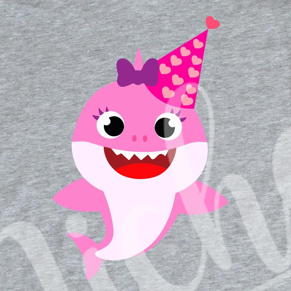 *Birthday Pink Bow Shark Decal