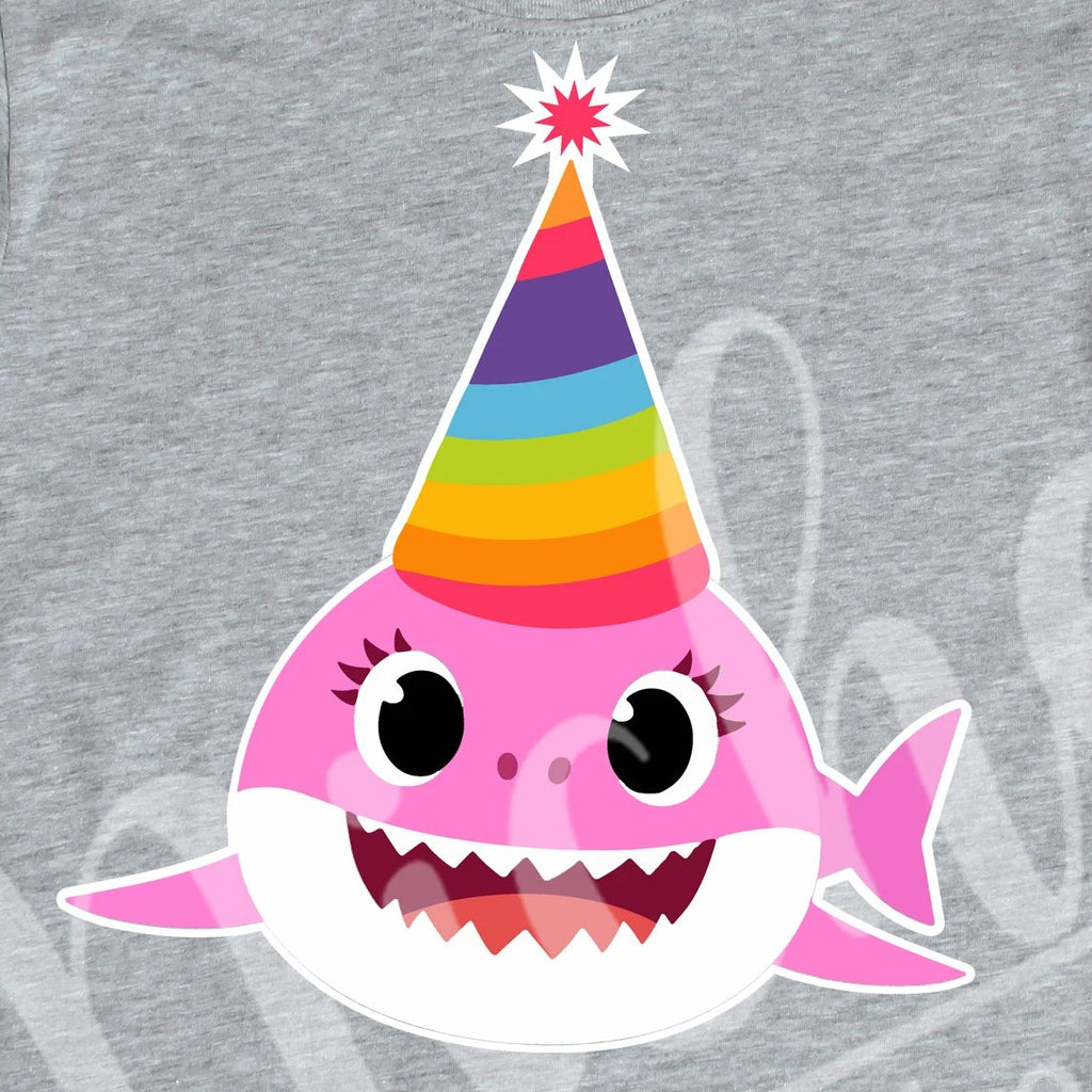 *Birthday Pink Front Facing Shark Decal