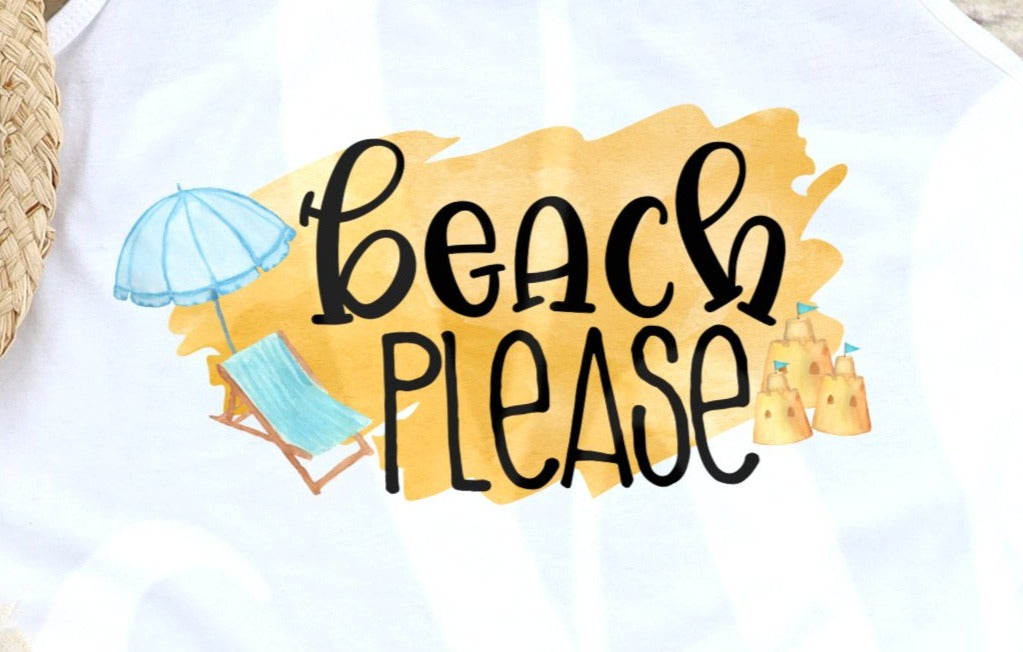 * Beach Please Decal