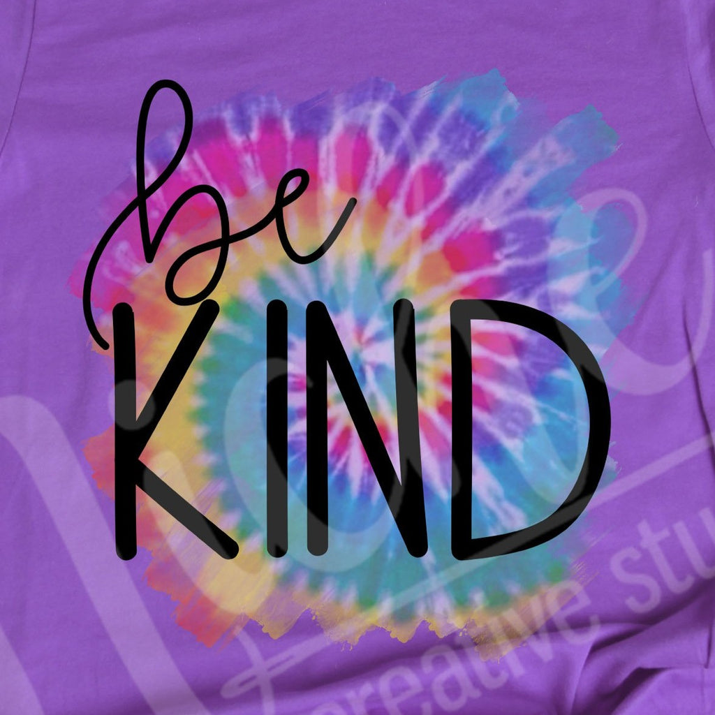 Be Kind Tie Dye Decal